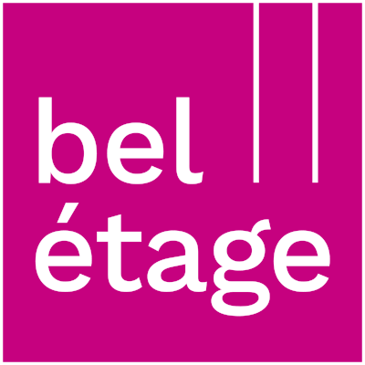 Logo belétage mit weißer Outline